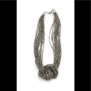 Silver knotted necklace -case 1 (889)